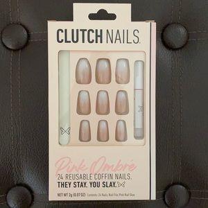 Clutch Nails Pink Ombré